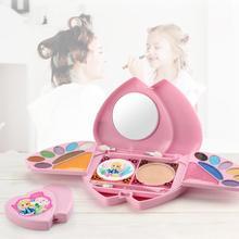 Cosmetic-Box-Toys Makeup-Set Eyeshadow Pretend Play Girls Kids Gloss Lip Blush Compact