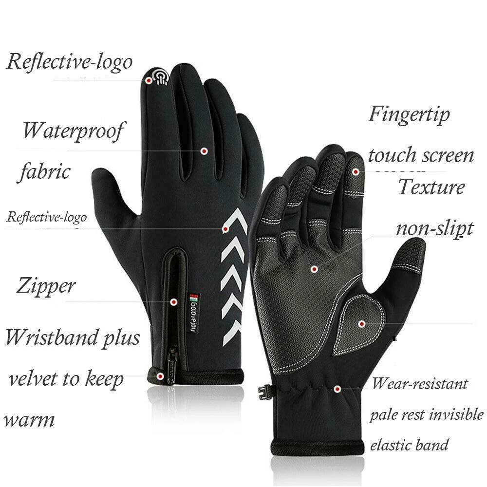 New Golovejoy 1 Pair Sports Riding Gloves Gloves Anti-cold Gloves M L XL Size