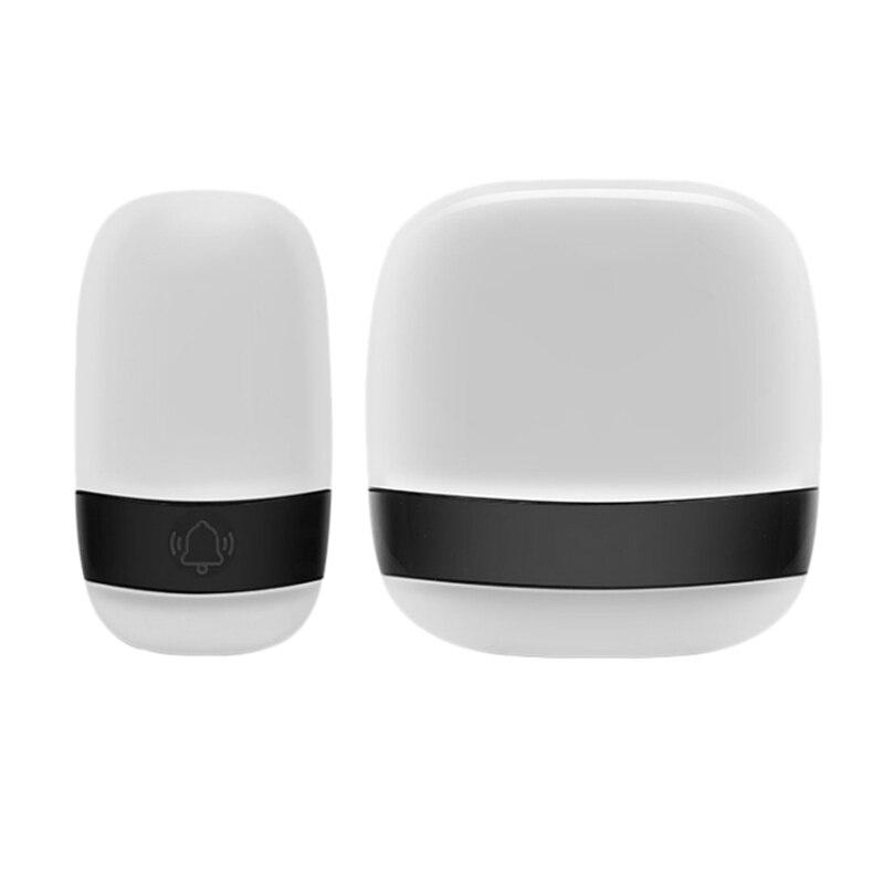 Home Wireless Doorbell AC Digital Music Doorbell Long Distance Waterproof Wireless Press Doorbell