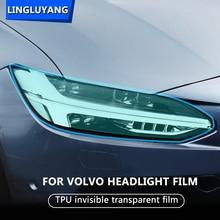 car sticker for volvo XC60 XC90 XC40 V90 V60 S60 S90 TPU Special Car Headlight Headlamp Protective Film car Accessories 2pcs