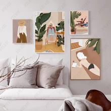 Модный фотопостер для девочек элегантные абстрактные обои повседневной
