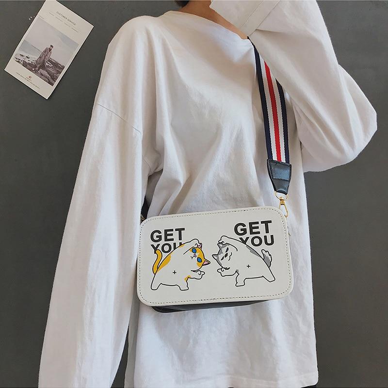 2019 New Korean Version Of The Fun Print Wild Shoulder Bag Female Messenger Bag