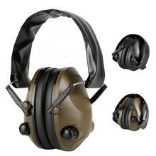 전술 전자 슈팅 귀마개 야외 스포츠 소음 방지 헤드폰 보호 헤드셋 접이식 청력 보호