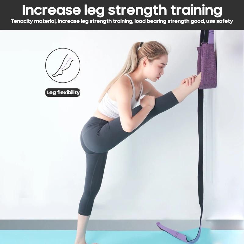 Yoga Ballet Foot Flexibility Stretching Leg Stretcher Belt Band Strap Door