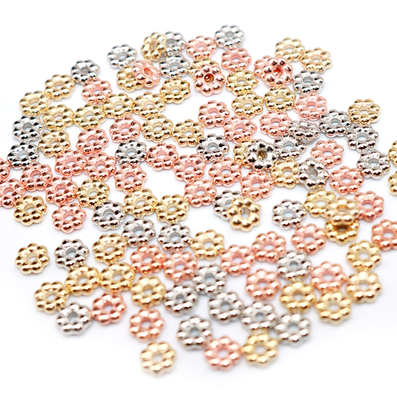 4MM 1000PCS Small Beads CCB Beads Spacer Beads Seed Plastic Spacer Loose Beads DIY Jewelry Accessories No Fade