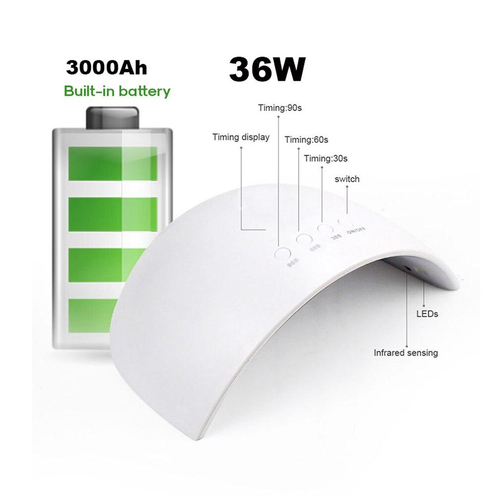 60 w uv conduziu a bateria recarregavel 04