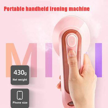 1pc najnowszy szybko podgrzewany przenośny podróży żelazko elektryczne Handheld Mini żelazko elektryczne żelazko elektryczne małe gospodarstwa domowego żelazko elektryczne odzieży tanie i dobre opinie CN (pochodzenie) Other Przenośne Ironing Machine 220V 0 4 kg 100ml Pink