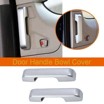 for Nissan NV200 2018 2Pcs ABS Chrome Car Door Interior Handle Bowl Protector Cover Trim Moldings Car Styling
