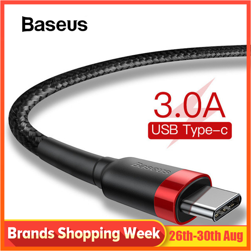Câble de USB Type C Baseus pour xiaomi redmi k20 pro câble de téléphone portable USB C câble de charge rapide de Type C pour appareils USB type-c