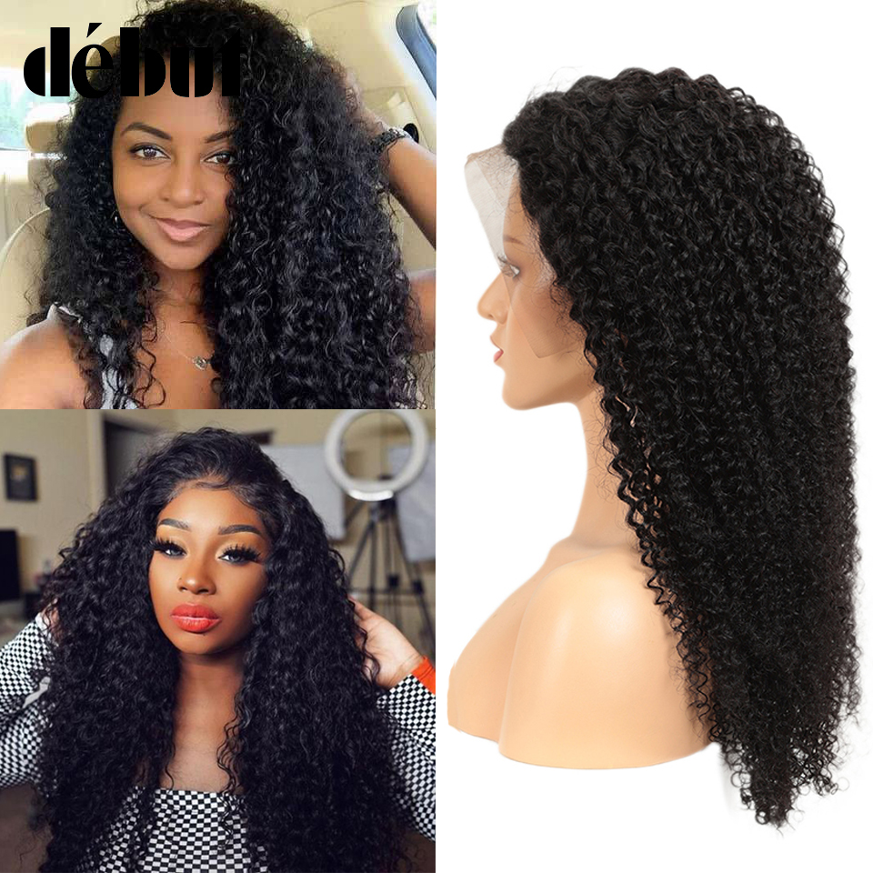 Lace Front Human Hair Wigs Debut Kinky Curly Human Hair Wig 8-28 Inches Brazilian Natural Customized Wig Free Shipping