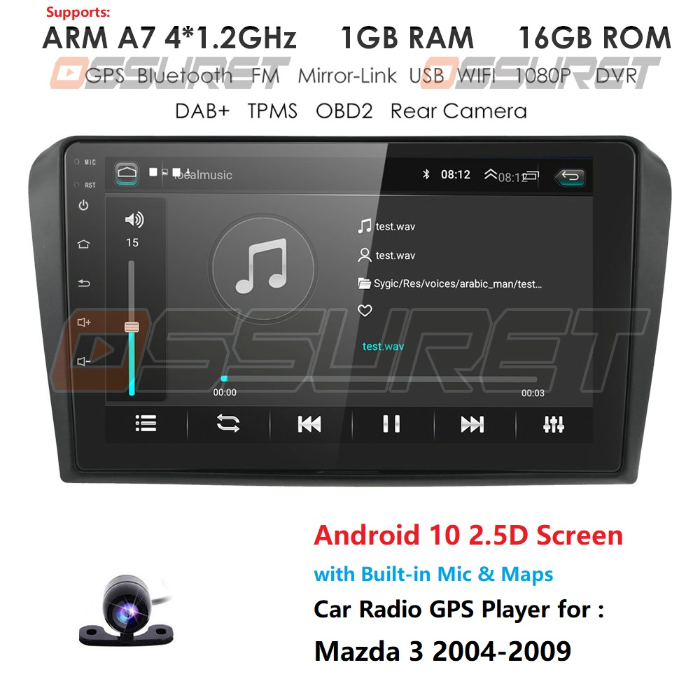 Android 10 2G 32G Car Radio For Mazda 3 2004-2009 Wifi Auto Stereo car dvd gps Navigation stereo Multimedia Player Mic Canbus