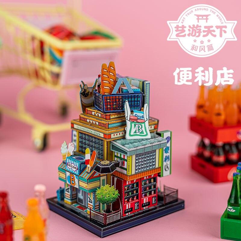 Металлический Пазл «лапша» в китайском стиле для магазина чая и молока, модель для самостоятельной сборки DIY, лазерная вырезка, модель пазла...