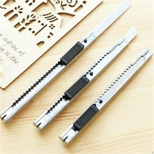 1Pc Portable Mini Art Knife Art Supplies Utility Knife Paper And Office Knife Diy School Tools Paper Cutter Stainless Steel 2pcs creative utility knife kawaii pen handle shape paper cutter handmade diy art knife office school supplies stationery