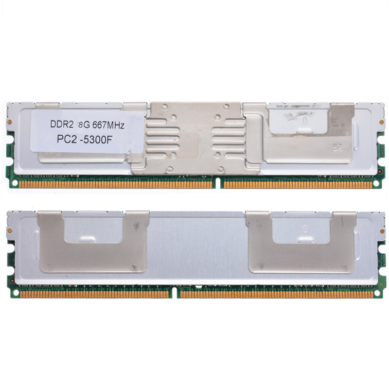 Pohiks 8GB Server Memory RAM Module DIMM DDR2 PC2-5300F 667Mhz 1.8V ECC 240Pin Server Data Storing Replacement Accessories