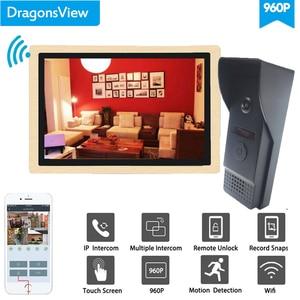 Image 2 - Dragonsview 10 Zoll Wireless Intercom Wifi Video Türklingel mit Kamera System 960P Entsperren Rekord Motion Erkennung