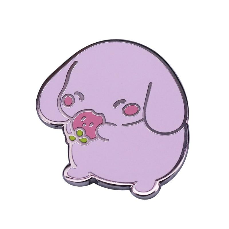 Kawaii Strawberry Dog Brooch Super Cute Pin On Your Bag Shirt Or Anywhere!
