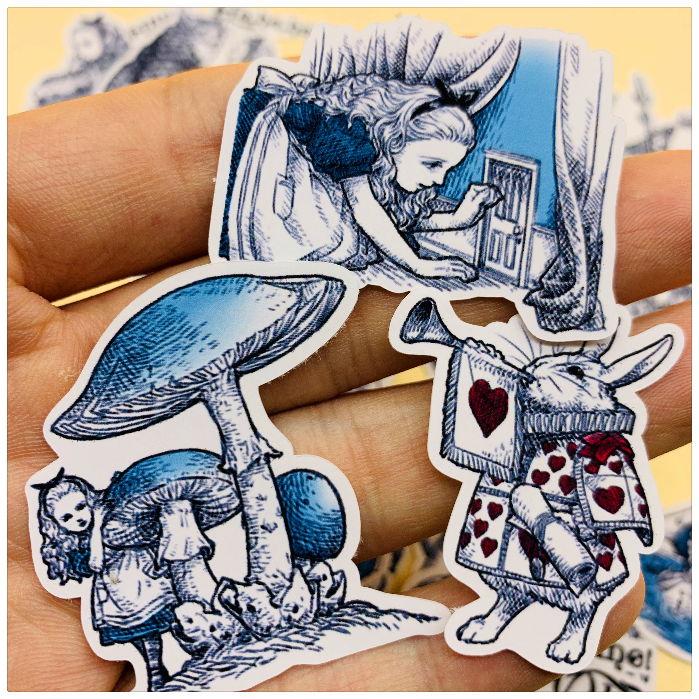 40Pcs/Set Vintage Cartoon Alice Fairy Girl Sticker DIY Craft Scrapbooking Album Journal Happy Planner Decorative Stickers