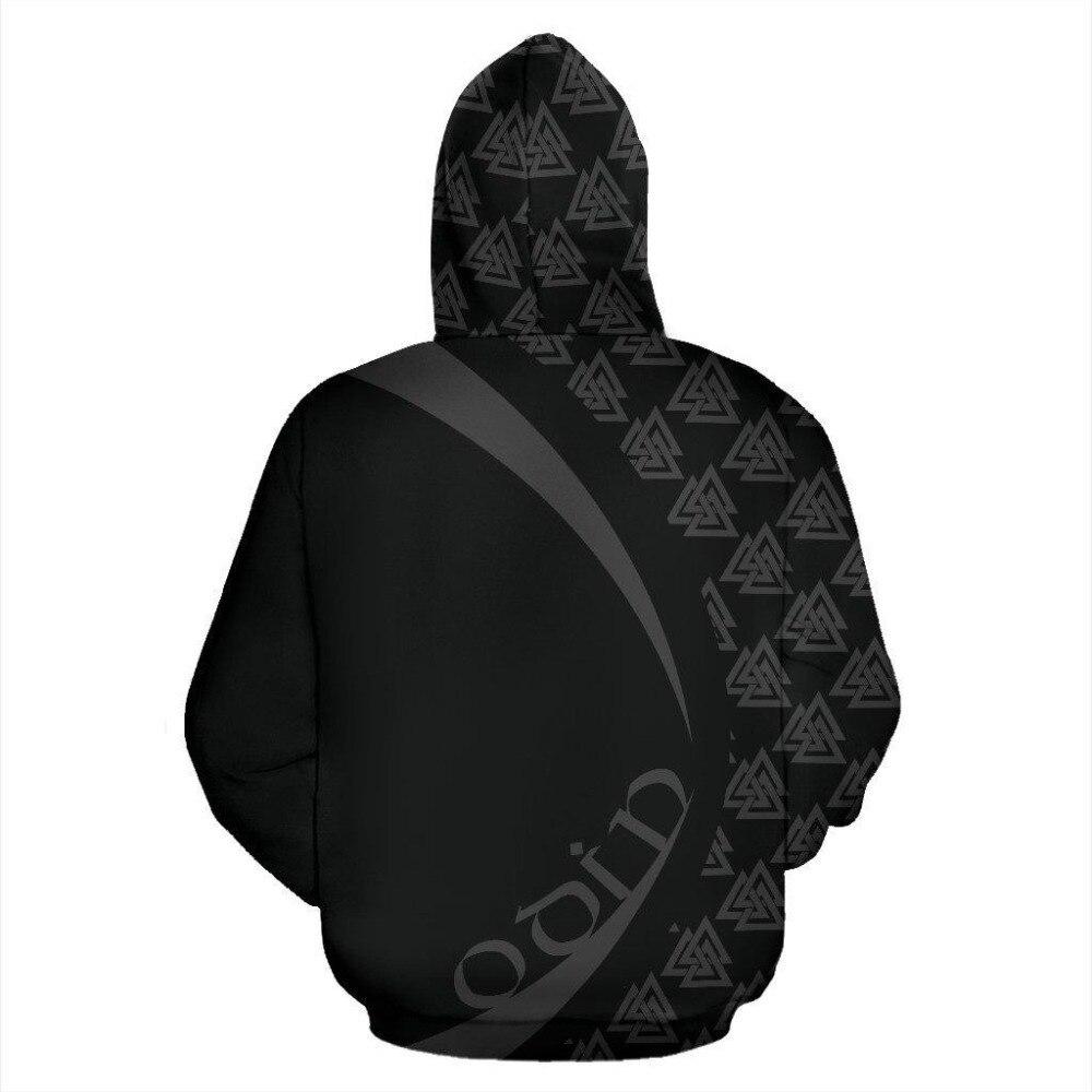 Odin Zip-up Hoodie - Circle Style1