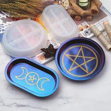 DIY żywica epoksydowa Mold Moon Star Tray silikonowe formy danie na biżuteria z żywicy do prezentowania, przechowywania biżuterii, zegarków