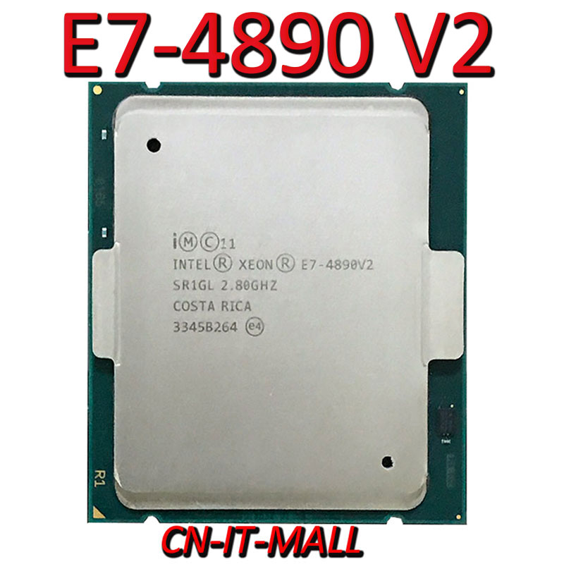 Pulled Xeon E7-4890 V2 Server Cpu 2.8G 37.5M 15Core 30 Thread LGA2011 Processor