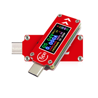 Tc64 5a multifunction capacidade tensão zmmeter tela colorida carga rápida usb portátil tipo c tester ferramenta de medição de temperatura|null| |  -