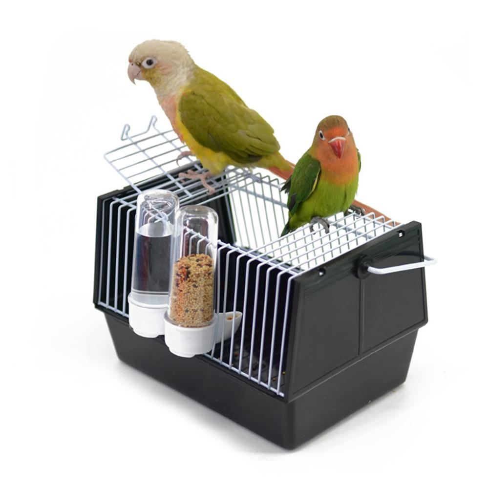 Portable Birdcage Parrot Cage Bird Travel Carrier Breathable Pet Nest House Outdoor Travel Supply With Two Feeders Dropshipping