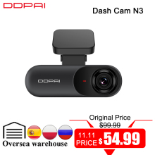 Ddpai Dash Cam Mola N3 1600P Hd Gps Voertuig Drive Auto Video Dvr 2K Android Wifi Smart Connect auto Camera Recorder 24H Parking