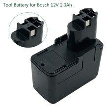 Batterie d'outils électriques Rechargeable NiCD Ni Cd 12V 2000mAh pour Bosch BAT011 BH1214L BH1214N BH1214H BH1214M perceuse sans fil