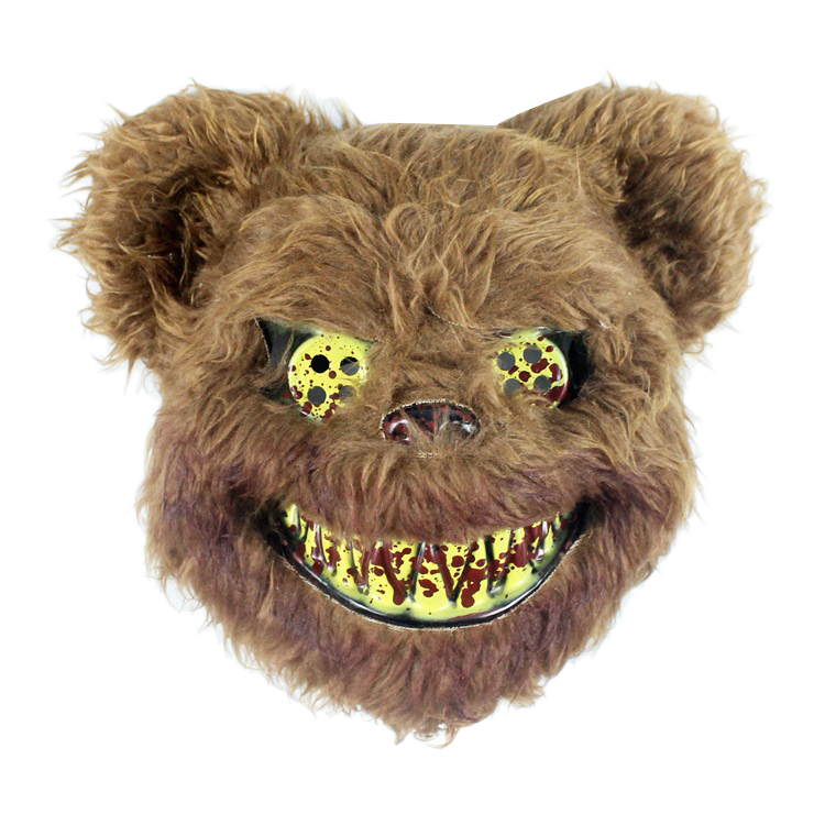 Halloween Mask Bloody Killer Bear Mask Halloween Plush Cosplay Horror Mask For Kids Adults Party Supplies Decoration Scary Prop