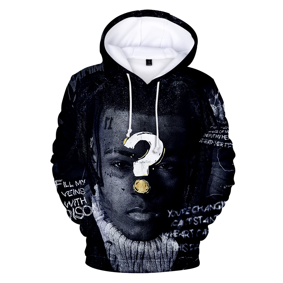 Question Mark Xxxtentacion Hoodies 3D Print Men Women Sweatshirt Long Sleeve Hit Hop Clothes Streetwear Casual Kpop Hooded