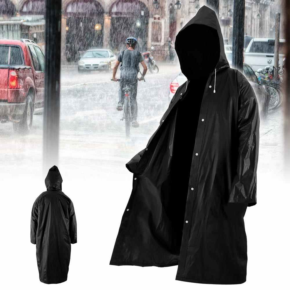 Moda mujer hombre impermeable transparente de Eva portátil de viaje al aire libre impermeable al agua Camping cubierta de lluvia de plástico con capucha