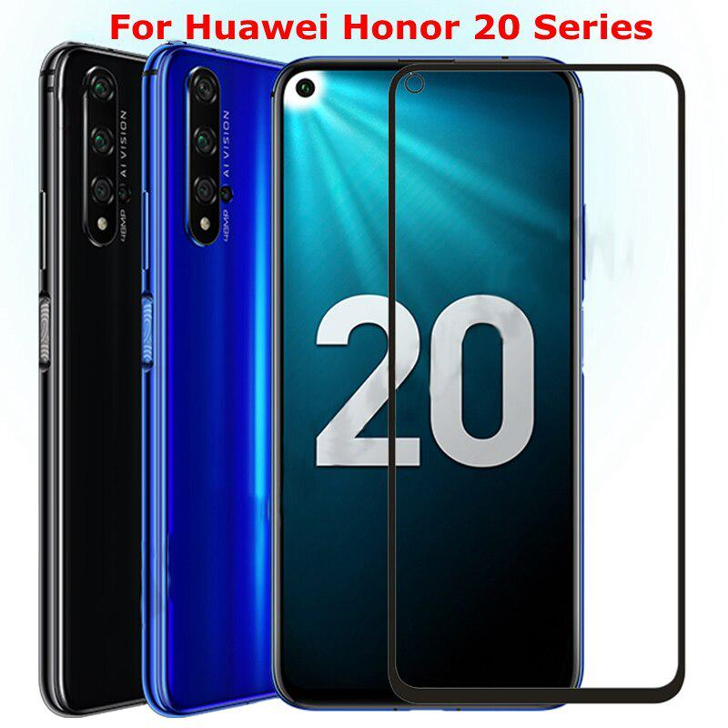 9D Tempered Glass For Huawei Honor 20 20i Screen Protector Full Cover Safety 9H Protective Glass On Honor View 20 V20 Honor20 I