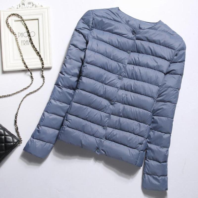 SEDUTMO Winter Slim Plus Size 4XL Women Duck Down Jacket Ultra Light Short Coat Spring Thin Puffer Jacket ED1417 1