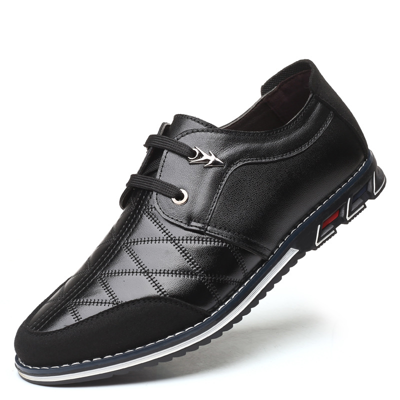 Brand Big Size Men Shoes Leather Shoes Casual Shoes Men Oxford 2019 Newest Loafers Breathable Shoes Lace Up Driving Shoes