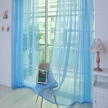 1 шт. Тюль двери окна шторы простыня панель отвесный шарф подзоры микро-прозрачный светильник-вес марли Трансмиссия# T2