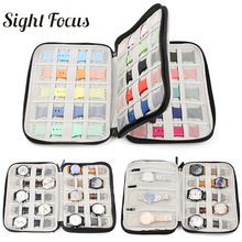18 slots Travel Watch Organizer Watch Box Case Watch Holder Watchband Storage Case For Apple Watch band Strap Box  Double Layer
