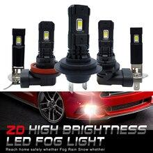 2 sztuk H7 LED lampa Super Bright H11 H8 H1 H3 9006 LED światła przeciwmgielne samochodu 12V 24V 6000K biały jazdy działa Led dla Auto motoryzacja