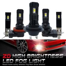 2Pcs H7 Led Lamp Super Heldere H11 H8 H1 H3 9006 Led Auto Mistlampen 12V 24V 6000K Wit Driving Running Led Voor Auto Automotive