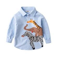 תינוק כותנה ארוך שרוולי Cartoon ג וקר 2 8 שנה ישן ילדים של חולצה בנים של דש חולצות עבור בני באביב