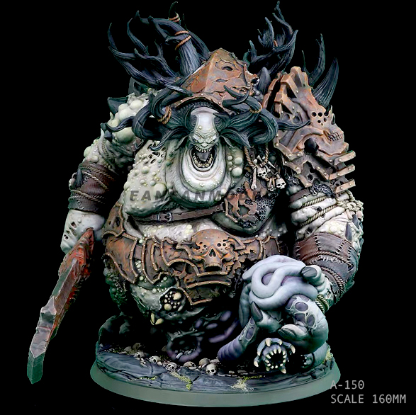 16CM Resin Figure Kits Demon Butcher Resin Model Self-assembled A-150
