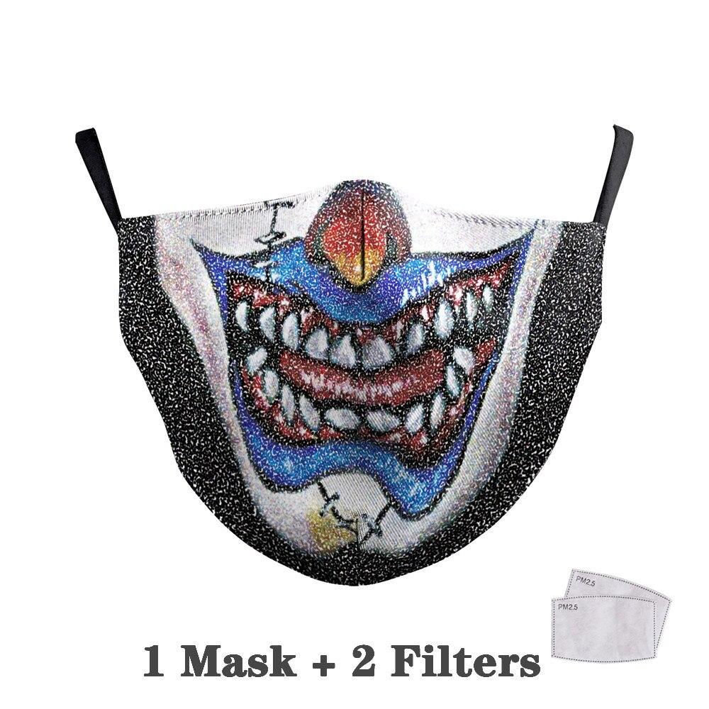 Washable Big Mouth Skull Face Masks 26