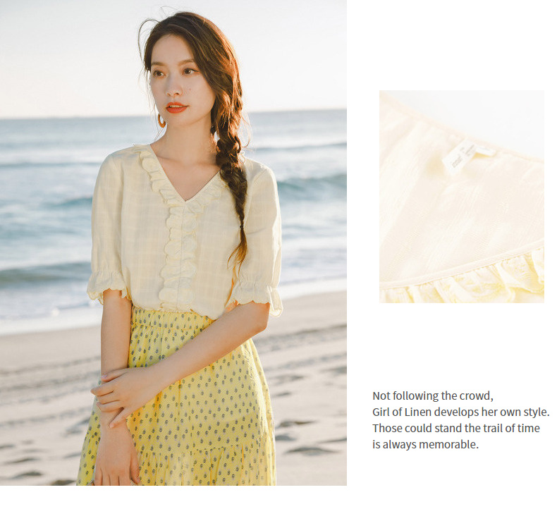 bordado rendas manga curta blusa