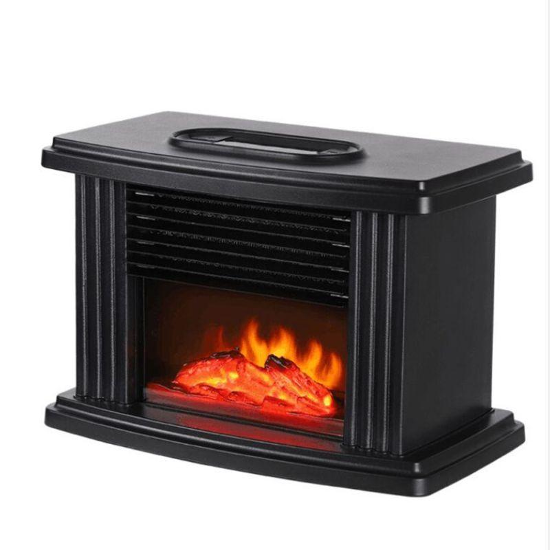 2021 New 1000W Electric Flame Heater Fireplace Air Heating Space Warmer Fan Radiator EU