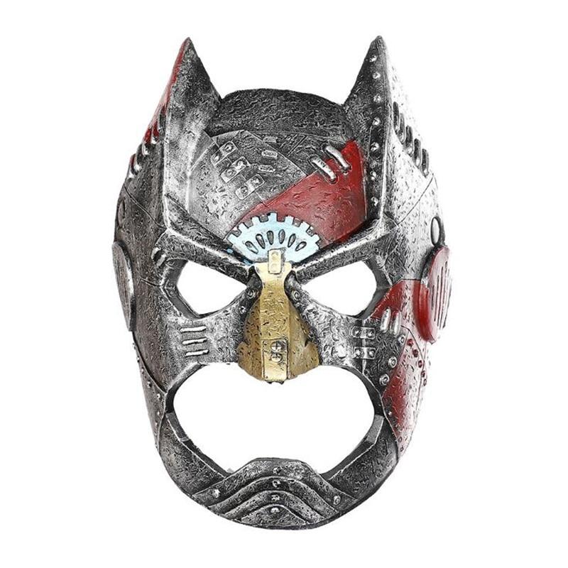Film Television Periphery Batman Mask Halloween Masquerade Bar Party Punk Batman Cosplay Prop Accessories PU Foam Mask Gift