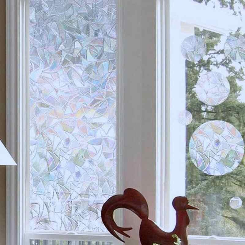 Films décoratifs 3D arc-en-ciel, sans colle, gaufrage statique, Anti UV