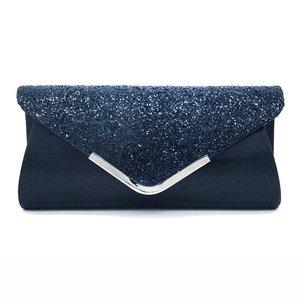Image 2 - Senhoras sacos de embreagem azul carteira festa saco banquete envelope sacos elegante festa à noite cruz corpo saco preto