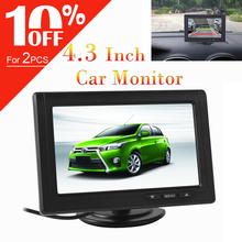 4.3 Polegada monitor do carro retrovisor estacionamento backup 480x272 cor tft lcd display para câmera reversa estacionamento para retrovisor