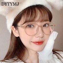 DYTYMJ-Montura De gafas redondas Retro para Mujer, gafas De círculo Vintage, lente clara De anteojos, Lentes De Lentes para Mujer 2020