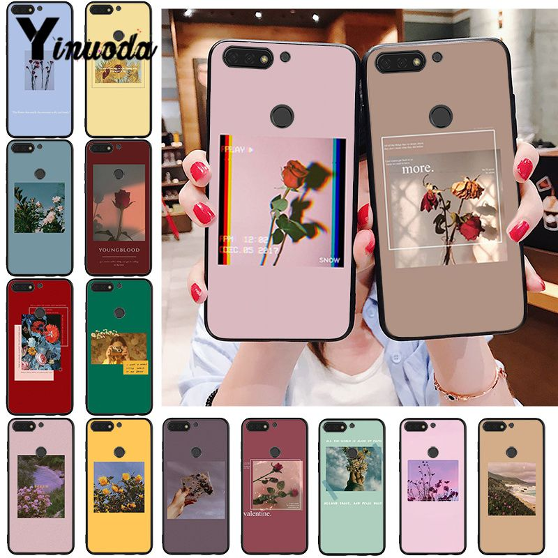 Yinuoda Great Art Prints Blooming Flowers Sunflower Rose Phone Case For Huawei Honor 8A 8X 9 10 20 Lite 7A 5A 7C 10i 20i