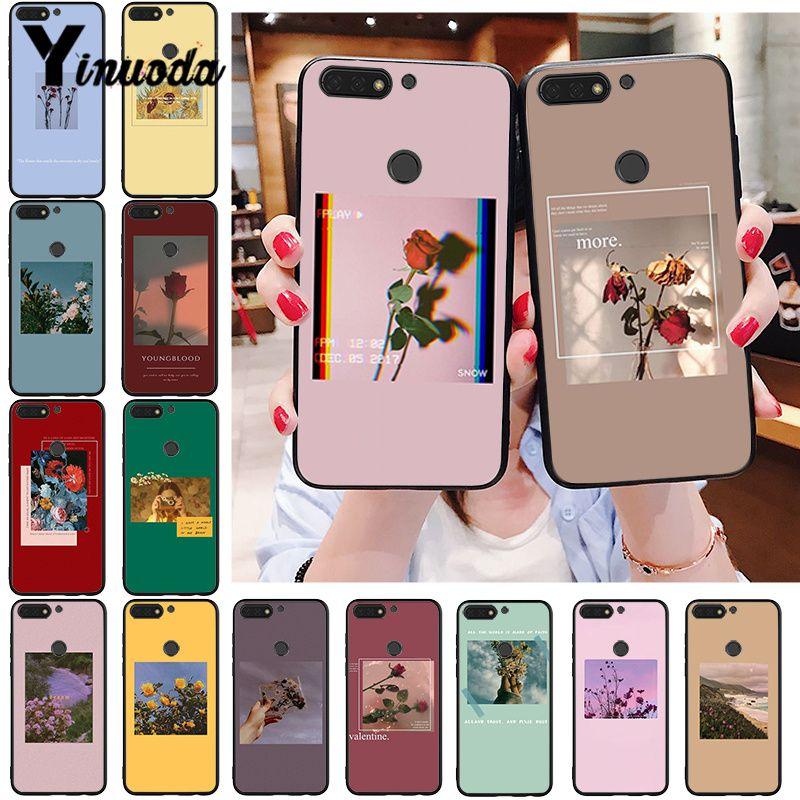 Yinuoda Great Art Prints Flowers Sunflower Rose Phone Case For Huawei Honor 8A 8X 9 10 20 Lite 7A 5A 7C 10i 9X Pro Play 8C